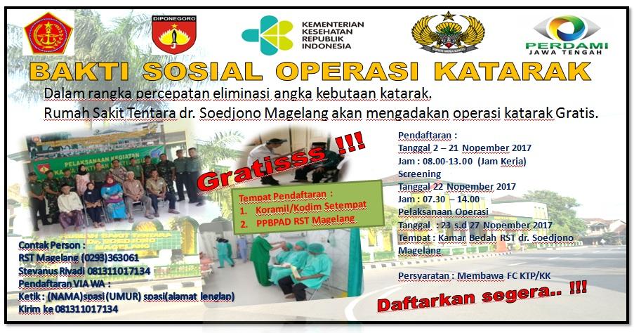 Bhaksos Operasi Katarak RST dr. Soedjono Magelang